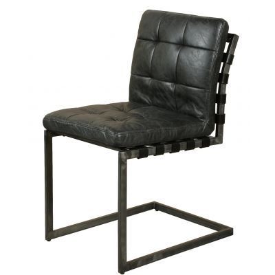 Black Leather Dining Chairs Industrial Furniture Smithers of Stamford £ 366.00 Store UK, US, EU, AE,BE,CA,DK,FR,DE,IE,IT,MT,N...