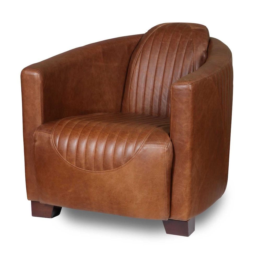 Tan Leather Club Chair | Spitfire Armchair