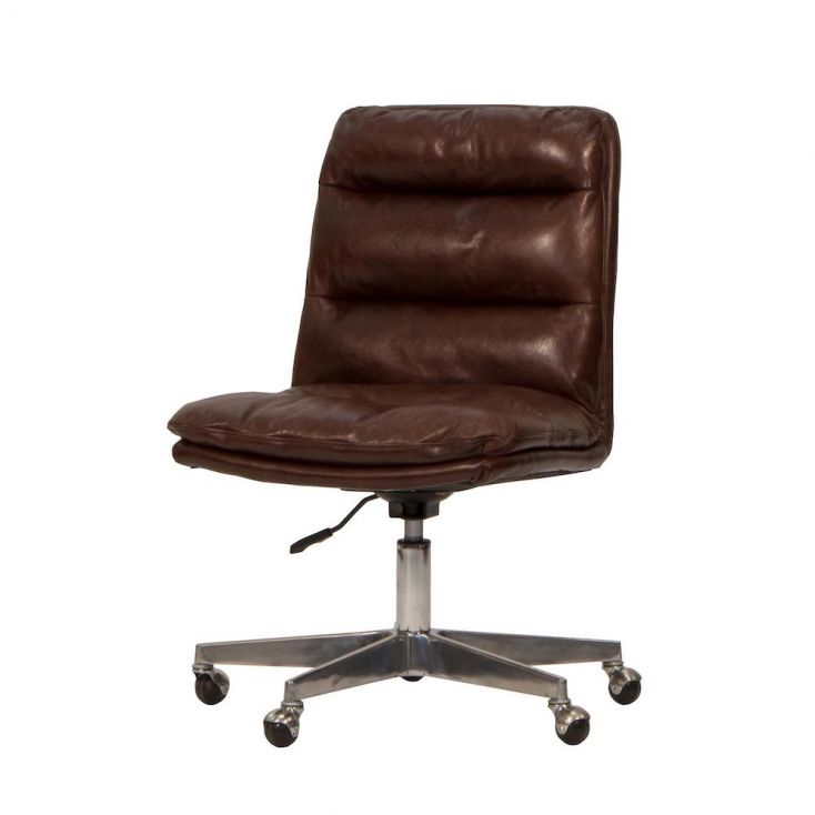 Groovy Brown Leather Office Chair Gmtry Best Dining Table And Chair Ideas Images Gmtryco