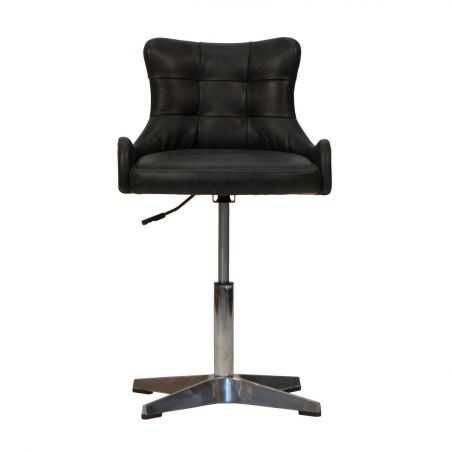 Black Leather Bar Stools Kitchen & Dining Room Smithers of Stamford £500.00 Store UK, US, EU, AE,BE,CA,DK,FR,DE,IE,IT,MT,NL,N...