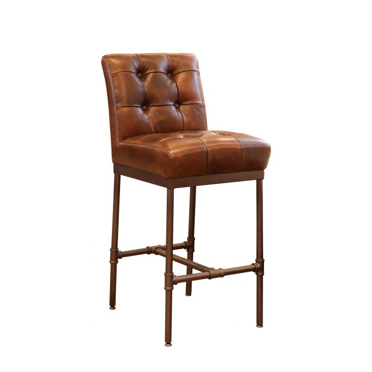 detailed look 48806 8c769 Leather Bar Stools With Backs
