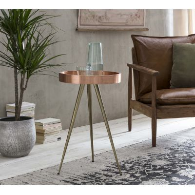 Copper Top Side Table Industrial Furniture £ 200.00 Store UK, US, EU, AE,BE,CA,DK,FR,DE,IE,IT,MT,NL,NO,ES,SE