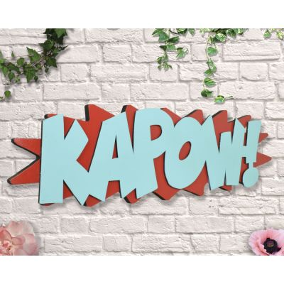 Kapow Sign Retro Signs £ 35.00 Store UK, US, EU, AE,BE,CA,DK,FR,DE,IE,IT,MT,NL,NO,ES,SE