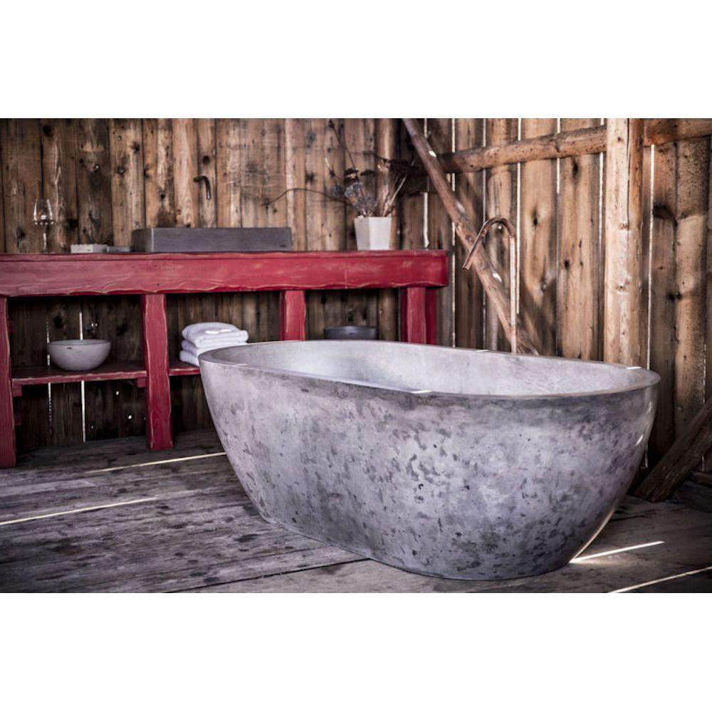 Concrete Bathtub Bathroom Bath In Cement Uk