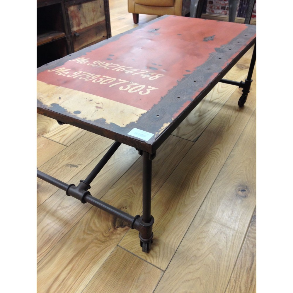Recycled Oil Drum Dining Table In Vintage Interior Design