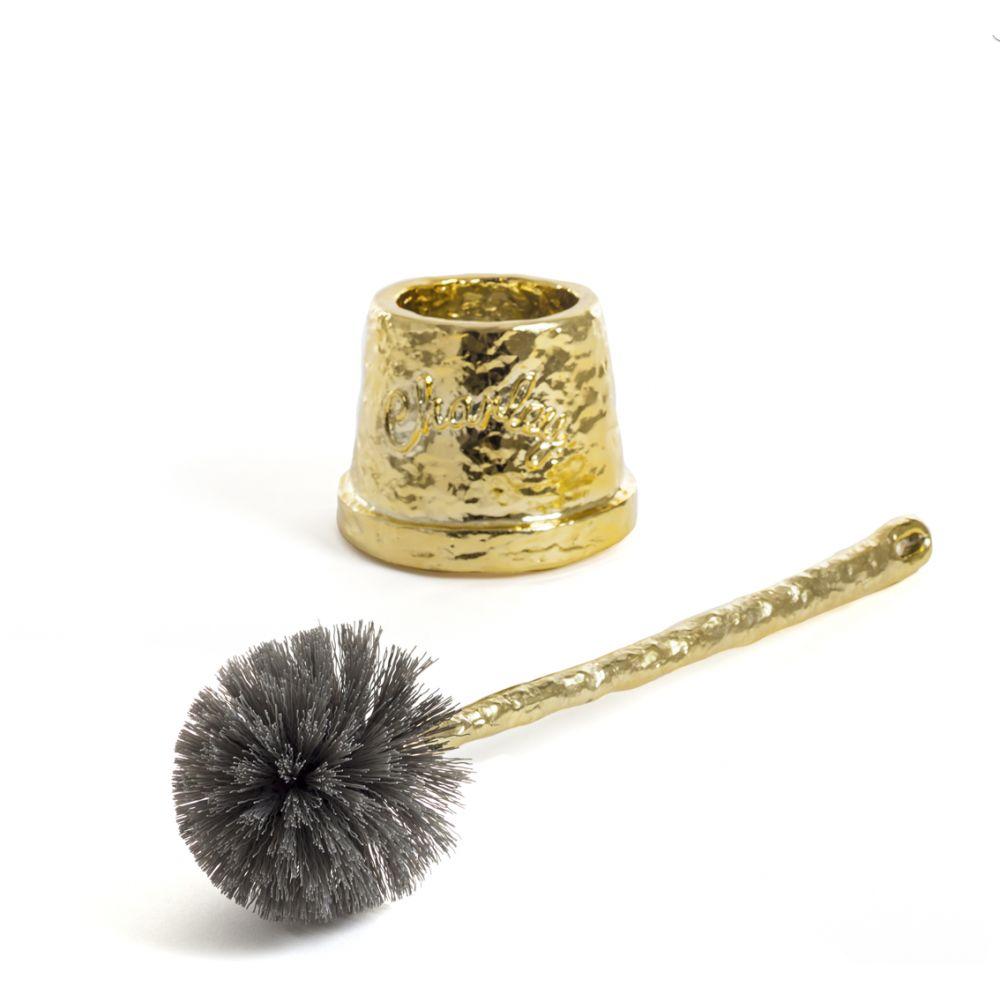 Gold Brass Toilet Brush Cool Novelty Holder Uk Us
