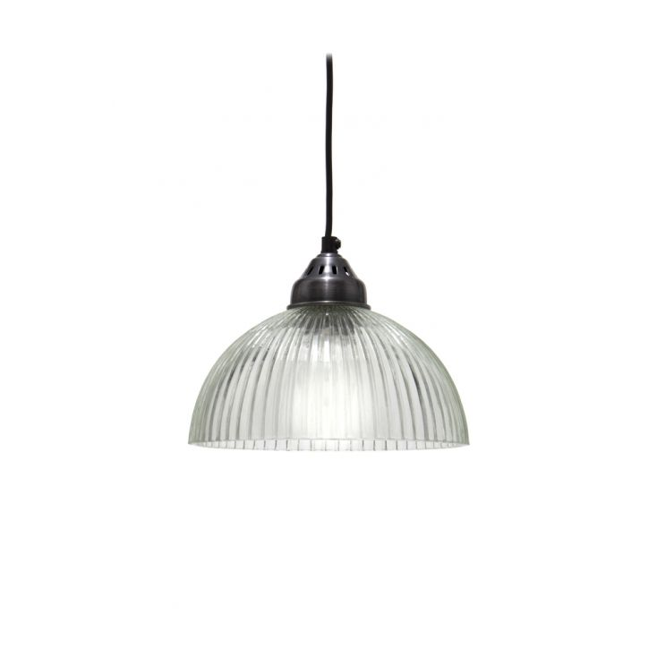 Ribbed Glass Pendant Light Uk Eu