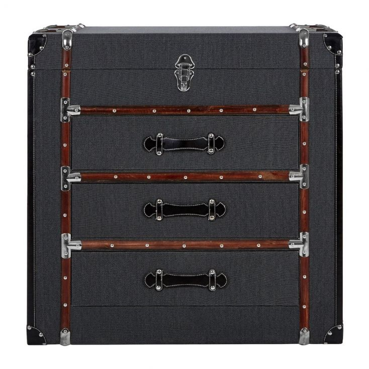 Steamer Trunk Chest Of Drawers Dark Grey
