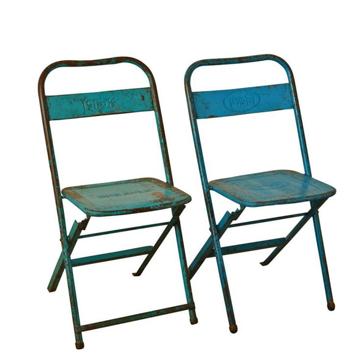 Vintage Metal Folding Chairs Industrial Furniture Smithers of Stamford £ 80.00 Store UK, US, EU, AE,BE,CA,DK,FR,DE,IE,IT,MT,N...
