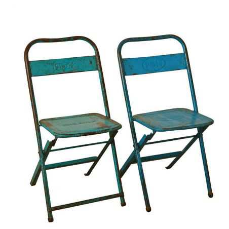 Vintage Metal Folding Chairs Industrial Furniture Smithers of Stamford £ 92.00 Store UK, US, EU, AE,BE,CA,DK,FR,DE,IE,IT,MT,N...