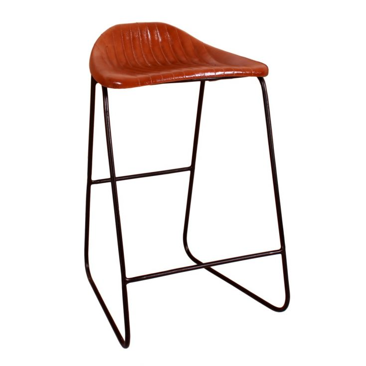 Tan Leather Bar Stools Industrial Furniture Smithers of Stamford £ 175.00 Store UK, US, EU, AE,BE,CA,DK,FR,DE,IE,IT,MT,NL,NO,...