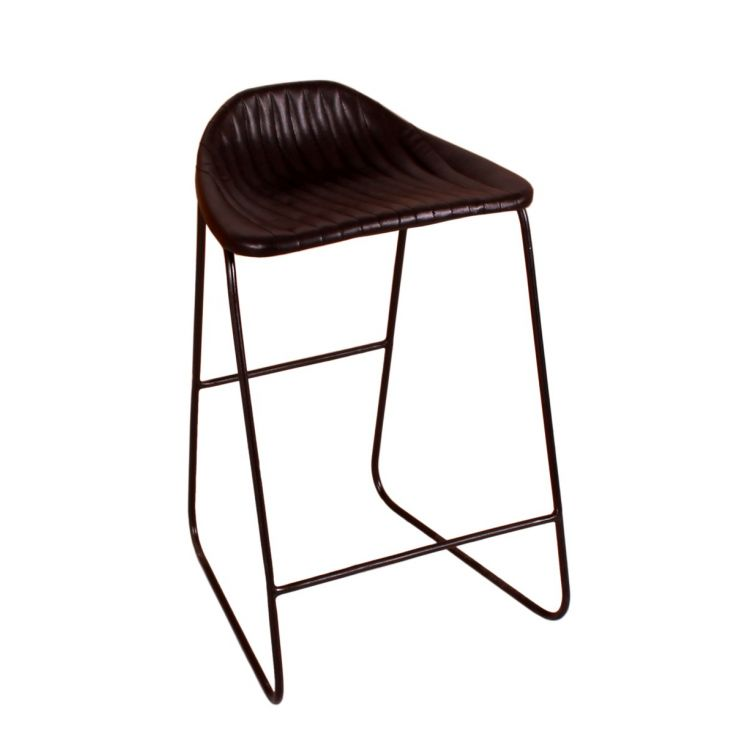 Black Leather Bar Stools Industrial Furniture Smithers of Stamford £ 175.00 Store UK, US, EU, AE,BE,CA,DK,FR,DE,IE,IT,MT,NL,N...