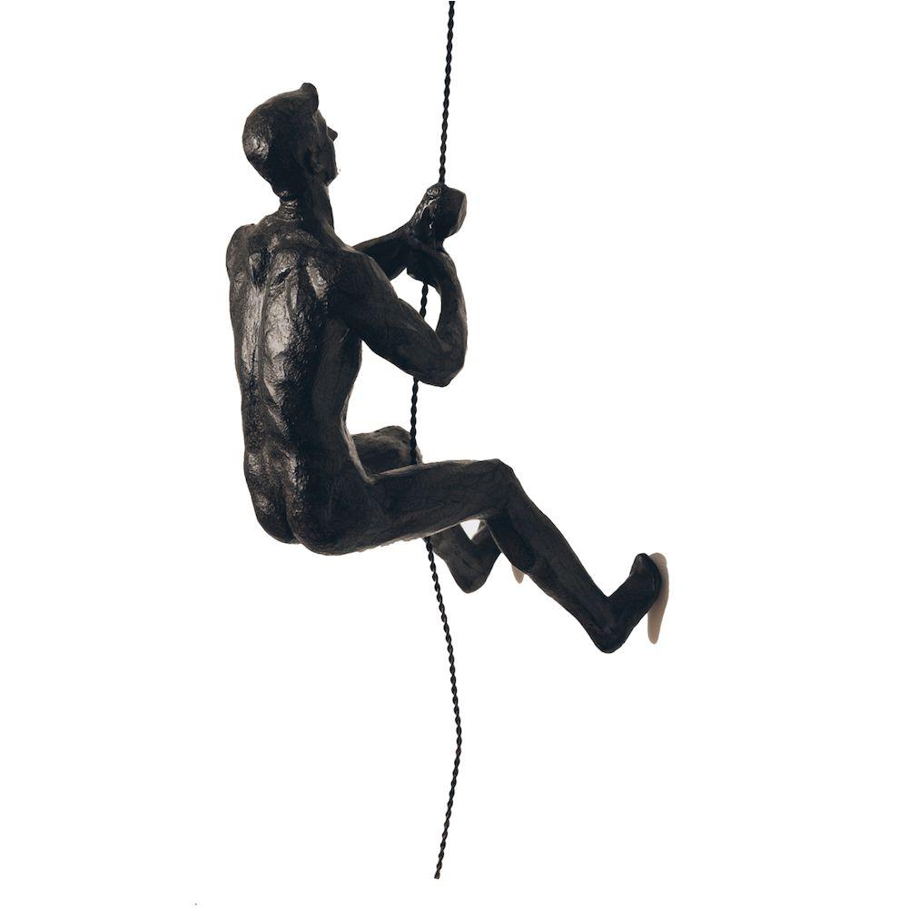 Climbing Man Wall Sculpture Gifts For Rock Climbers