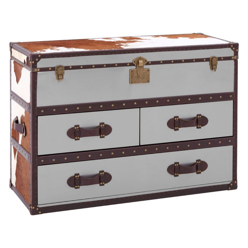 Cowhide Storage Trunk Fifty Five South