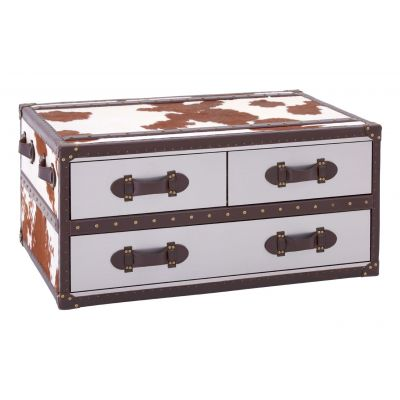 Cowhide Trunk Retro Furniture 1,450.00 Store UK, US, EU, AE,BE,CA,DK,FR,DE,IE,IT,MT,NL,NO,ES,SE