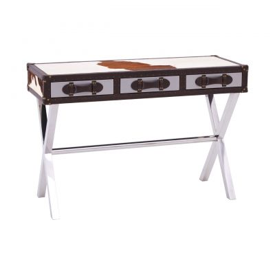 Cowhide Console Table Hallway Smithers of Stamford £ 945.00 Store UK, US, EU, AE,BE,CA,DK,FR,DE,IE,IT,MT,NL,NO,ES,SE