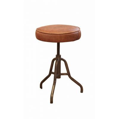 Tan Leather Stool Industrial Furniture Smithers of Stamford £ 195.00 Store UK, US, EU, AE,BE,CA,DK,FR,DE,IE,IT,MT,NL,NO,ES,SE