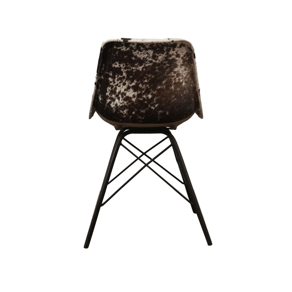 Cowhide Dining Chairs Amp Tan Black Vintage Leather
