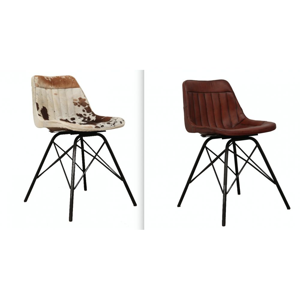 Furniture Stores Stamford: Cowhide Dining Chairs UK & Tan Black Vintage Leather