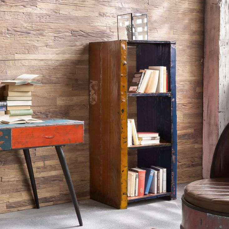 Oil Drum Bookcase Upcycled Furniture Smithers of Stamford £ 750.00 Store UK, US, EU, AE,BE,CA,DK,FR,DE,IE,IT,MT,NL,NO,ES,SE