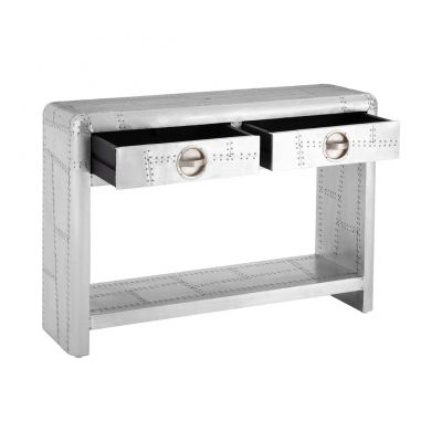Aviator Silver Console Table