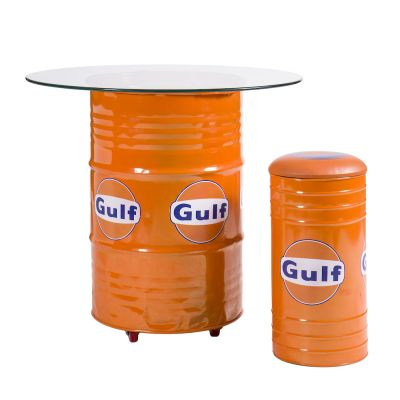 Oil Drum Table And Seats