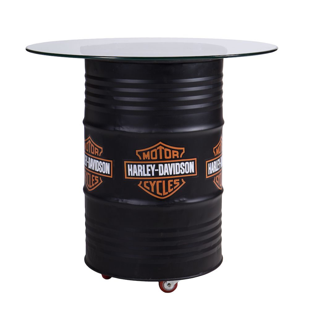 Oil Drum Table With Stools Set