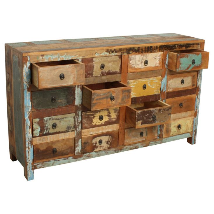 Reclaimed Wood 16 Drawer Commode Chest of Drawers Smithers of Stamford 1,281.00 Store UK, US, EU, AE,BE,CA,DK,FR,DE,IE,IT,MT,...