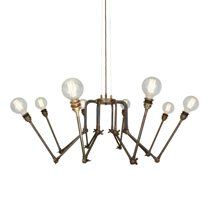 Industrial Spider Chandelier Vintage Lighting Smithers of Stamford £ 925.00 Store UK, US, EU, AE,BE,CA,DK,FR,DE,IE,IT,MT,NL,...