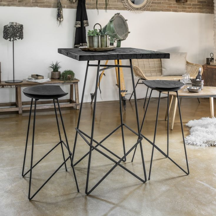 Loft Black Wood Bar Stools Industrial Furniture Smithers of Stamford £ 212.00 Store UK, US, EU, AE,BE,CA,DK,FR,DE,IE,IT,MT,NL...