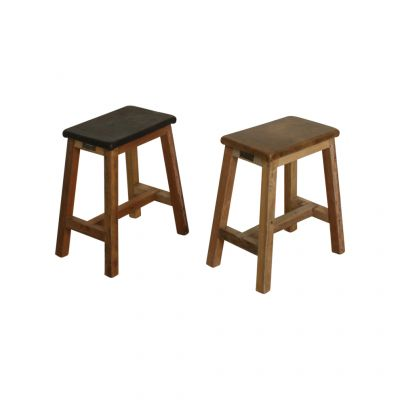 Gaucho Leather Stool