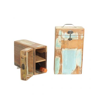 2 Bottle Reclaimed Wine Box