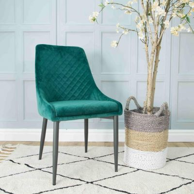 Velvet Upholstered Dining Chairs