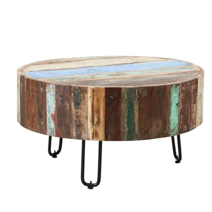 Miami Round Reclaimed Wood Coffee Table Reclaimed Wood Furniture Smithers of Stamford £ 196.00 Store UK, US, EU, AE,BE,CA,DK,...