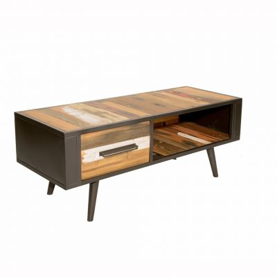 Reclaimed Wood Small TV Unit