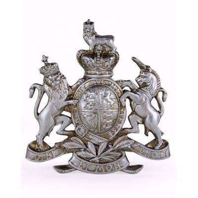 Silver Coat Of Arms Wall Plaque