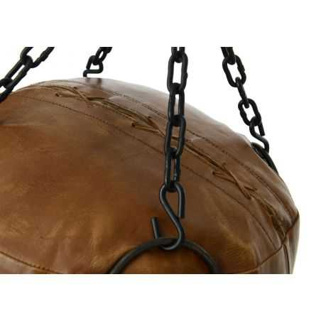 Brown Leather Punch Bag This And That Smithers of Stamford £398.00 Store UK, US, EU, AE,BE,CA,DK,FR,DE,IE,IT,MT,NL,NO,ES,SE