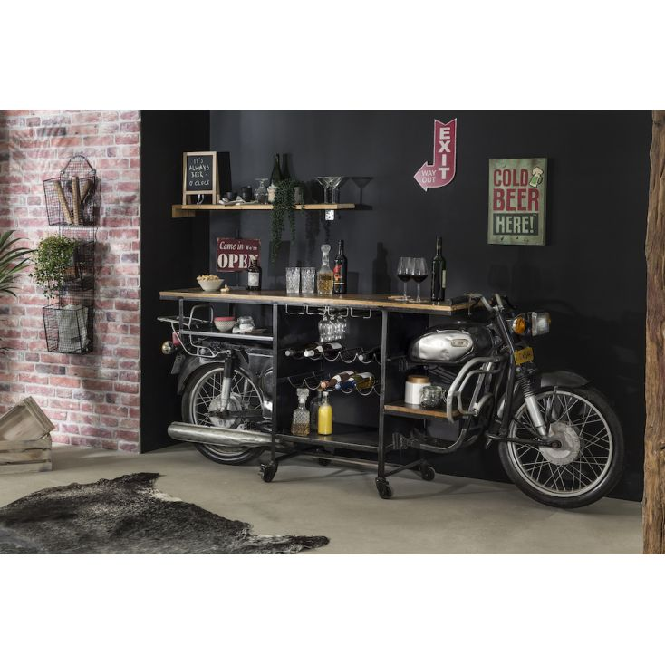 Motorcycle Bar Upcycled Furniture Smithers of Stamford 2,450.00 Store UK, US, EU, AE,BE,CA,DK,FR,DE,IE,IT,MT,NL,NO,ES,SE