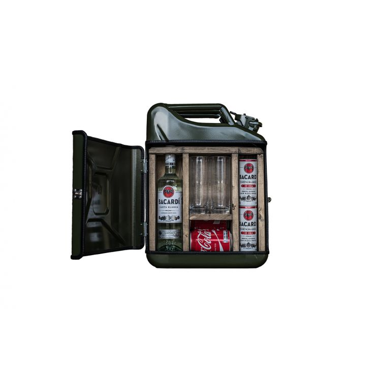 Jerry Can Mini Bar Retro Gifts £ 190.00 Store UK, US, EU, AE,BE,CA,DK,FR,DE,IE,IT,MT,NL,NO,ES,SE