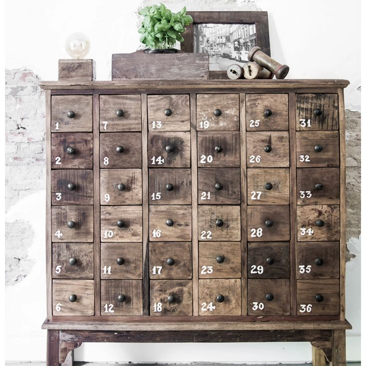 Apothecary Chest of 36 Drawers Reclaimed Wood Furniture Smithers of Stamford 1,137.00 Store UK, US, EU, AE,BE,CA,DK,FR,DE,IE,...