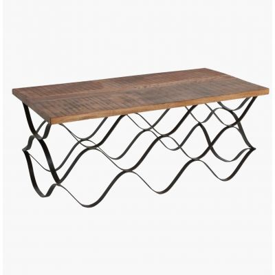 Wave FSC Reclaimed Wood Coffee Table