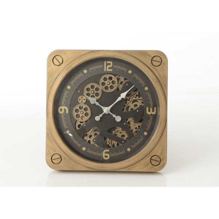 Gold Mechanical Wall Clock Vintage Clocks Smithers of Stamford £ 190.00 Store UK, US, EU, AE,BE,CA,DK,FR,DE,IE,IT,MT,NL,NO,ES,SE