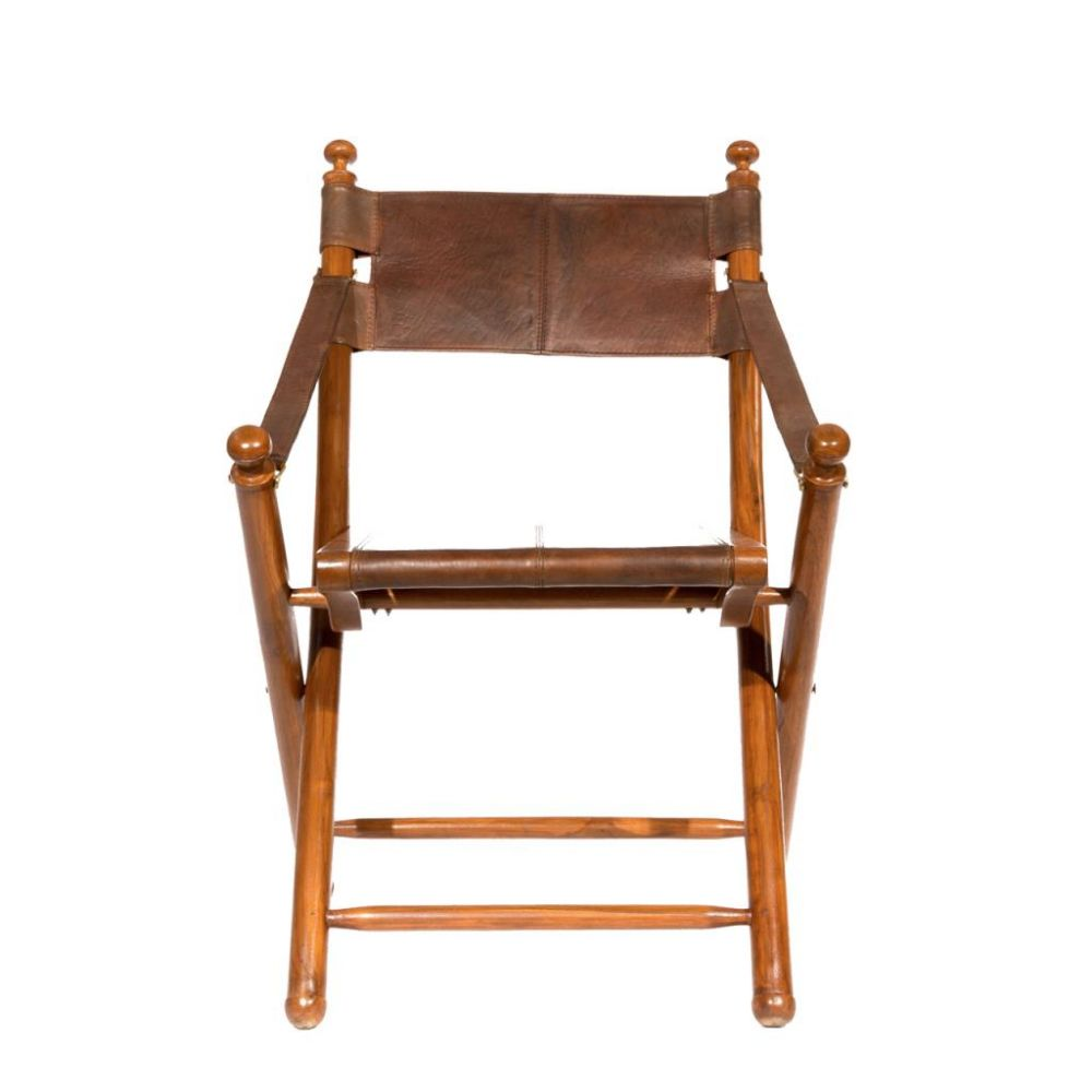 Folding Safari Brown Teak Wood