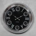 Chrome 1950's Style Clock