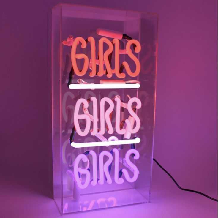 Girls Girls Girls Neon Light Sign Vintage Lighting  Seletti £ 109.00 Store UK, US, EU, AE,BE,CA,DK,FR,DE,IE,IT,MT,NL,NO,ES,SE