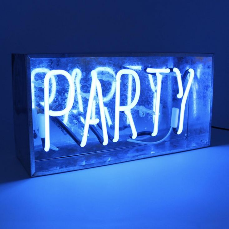 Party Neon Sign Neon Signs Seletti £ 89.00 Store UK, US, EU, AE,BE,CA,DK,FR,DE,IE,IT,MT,NL,NO,ES,SE