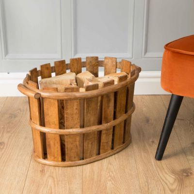 Firewood Storage Basket
