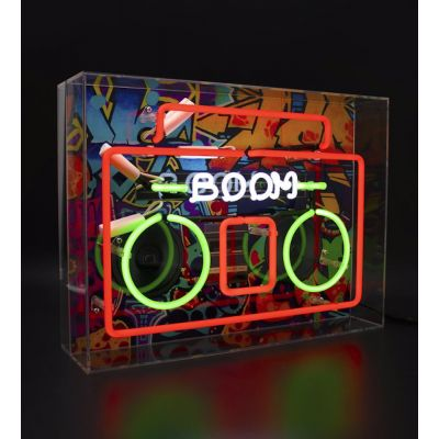 Boombox Neon Light Retro Gifts Smithers of Stamford £ 139.95 Store UK, US, EU, AE,BE,CA,DK,FR,DE,IE,IT,MT,NL,NO,ES,SE