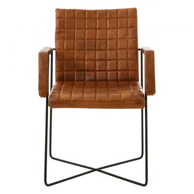 Weave Leather Chair