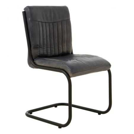 Industrial Grey & Tan Leather Chair Industrial Furniture Smithers of Stamford £ 395.00 Store UK, US, EU, AE,BE,CA,DK,FR,DE,IE...